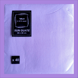SERVIETTE 38/38 DOUBLE OUATE GAUFREE LILAS (40)